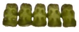 Grüne Gummibärchen von Haribo (Apfel) (1000 GR)