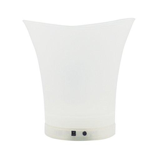 MagiDeal LED Flaschenkühler - Sektkühler - Weinkühler - Getränkekühler - Kühler für Wasser, Wein, Sekt, Champagner - 5L - USB Aufladen - Weiß, 26x25.5cm 5l X Usb
