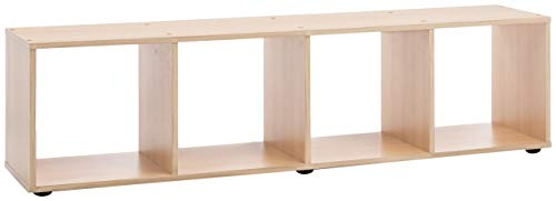 WILMES Lowboard, TV-Board, Regal, Holzwerkstoff, buche dekor, 140 x 29 x 38 cm