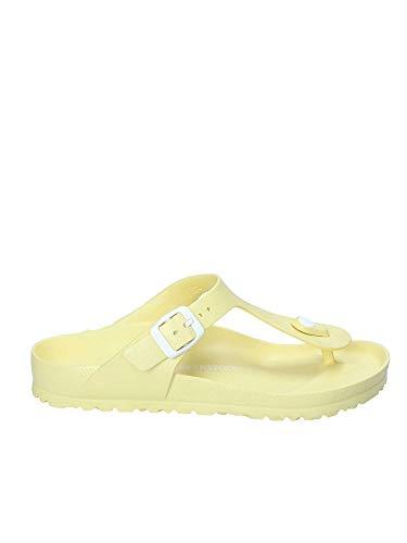 BIRKENSTOCK Damen Gizeh Eva Normal Zehensandale, Soft Yellow (1009203), 40 EU -