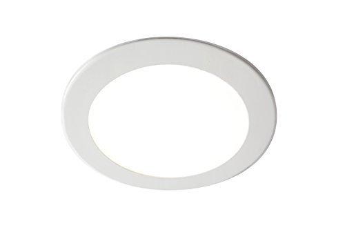 GedoTec® Design LED-Deckenleuchte Deckenlampe PLANA 2.0 Aluminium weiß | Leuchten Ø 165 mm | LED-Leuchte Energieeffizienz A++ | Einbauleuchte warmweiß 3000 K | 12W - 230V | Professionelles Downlight zur Beleuchtung von Verkaufsräumen | Markenqualität für Ihren Wohnbereich