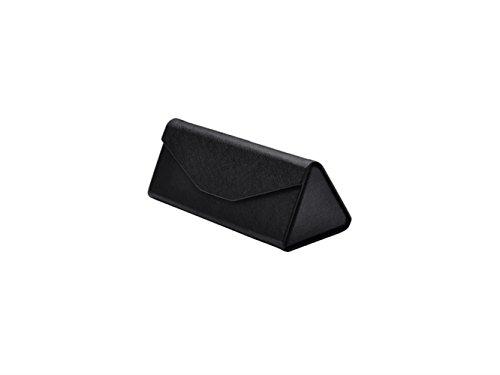 LridSu Brillenhalter Faltbare Dreieck Brillenetui Hard Sonnenbrille Box Gläser Tasche (braun)