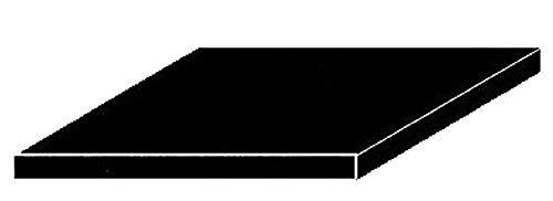 Evergreen-9116-poliestireno Placas, Juego, 200x 530x 1.50mm, 2Unidades, Color Negro