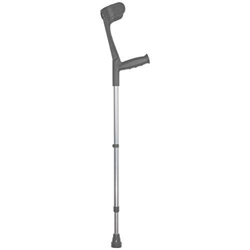 Unterarm-Gehstütze grau, 1 Stück - Krücken Gehhilfe Unterarmkrücke Unterarmstütze