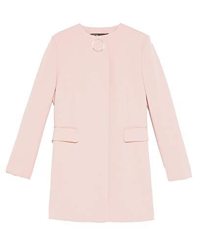 Zara Femme Veste Longue à Bouton appliqué 2204/700 (Large)