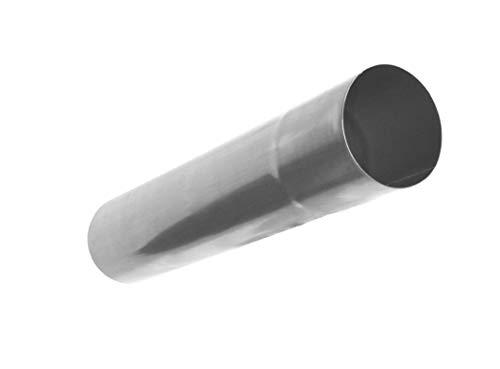fallrohr titanzink Regenablaufrohr Titanzink 1 Meter Stück in den Größen 60, 76, 80, 87 und 100 mm (100 mm)