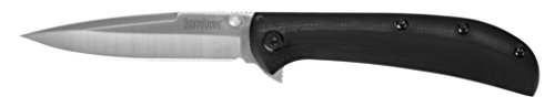 Kershaw AL MAR Messer mit fester Klinge Unisex Erwachsene, Grau, 182 mm (Mar-finish)