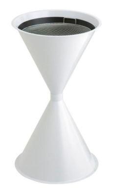Cendrier à sable en forme de double boule, avec tamis, blanc - - Ascher Edelstahl-Ascher Alu-Standascher Standaschenbecher Aschenbecher Alu-Ascher Standascher Ascher Edelstahl-Ascher Alu-Standascher Standaschenbecher Aschenbecher Alu-Ascher