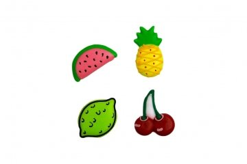 Tropical Fruit Cupcake Toppers - 12 Pack (Topper Cake Watermelon)