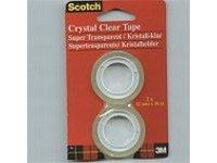 Scotch 6-1210R2 Klebefilm Crystal Clear 600 Zellulose Acetat, beschriftbar, 10 m x 12 mm, 2 Stück (3m Crystal Clear)
