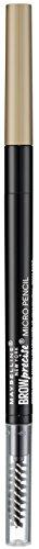 Maybelline Brow Precise Micro Pencil in Blond, 2-in-1 Augenbrauenstift, formt und füllt Augenbrauen sanft und präzise auf, für natürlich volle Brauen und ein lückenloses Finish, mit Bürstchen
