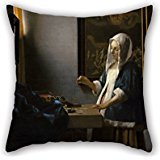 Uloveme Oil Painting Johannes Vermeer - Woman Holding A Balance Pillow Covers 18 X 18 Inches / 45 By 45 Cm Gift Or Decor For Bar Seat,gf,indoor,birthday,coffee House,couch - Each Side