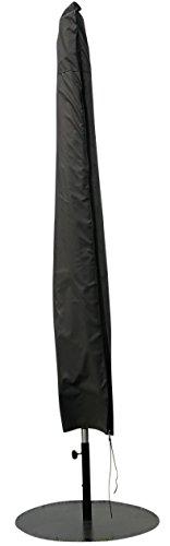 Schutzhülle / Cover für Sonnenschirm mit Mittelstange (Ø 200 - Ø 300 cm) | Grau |...