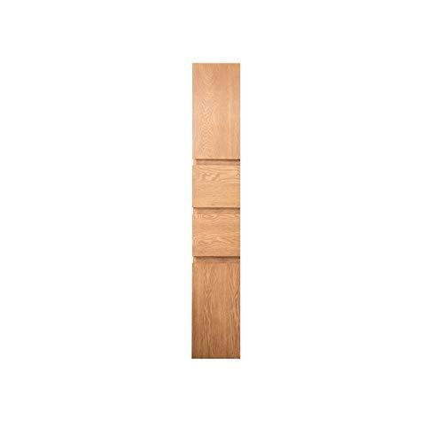 SNOLEK Nordic Massivholz Badezimmerschrank einfache und Moderne große Seitenschrank Holzfarbe