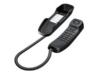 Gigaset DA210 Telefon - Schnurgebundes Telefon / Schnurtelefon - Stummschaltung / Mute - Analog Telefon - anthrazit