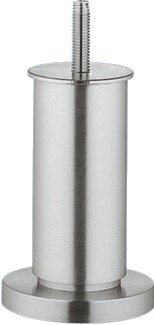 Verstellfuß Sockelfuß Möbelfuß höhen-verstellbar mit Gewindesift M8 | Modell NENA | Höhe 100 mm | Tragkraft: 60 kg | Aluminium silber eloxiert | Möbelbeschläge von GedoTec