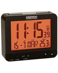 Daewoo DCD-200B - Reloj despertador, negro