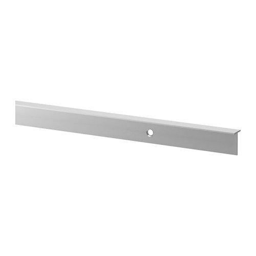 IKEA FIXA Fugenleiste für Arbeitsplatte; aus Aluminium; (63,5x1x1,8cm)