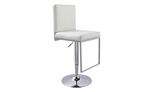 designement Voluptia Tabouret Salon Eco Cuir Blanc 44 x 52 x 120 cm