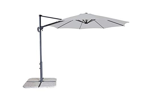 Derby ravenna smart 300 - ombrellone di alta qualità ideale per giardino e terrazza - inclinabile - ca. 300 cm- grigio
