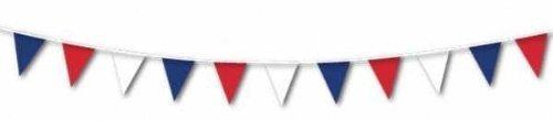 Party Bags 2 Go Fanions aux couleurs de la Grande-Bretagne, rouge blanc et bleu, 7,62 m