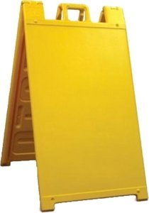Plasticade Signicade Curb Sign / A-Frame Sign for 24x36 Sign. Color: Yellow. by Plasticade