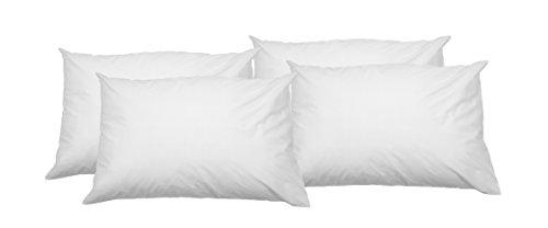 AmazonBasics Kissenbezug mit Reißverschluss, 100 % weiche Baumwolle, 65 x 65 cm, 4 Stück