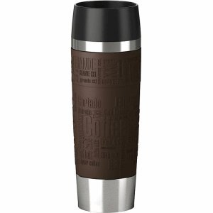 emsa 515618 Emsa Isolierbecher Travel Mug Grande 0,5l braun/Silber