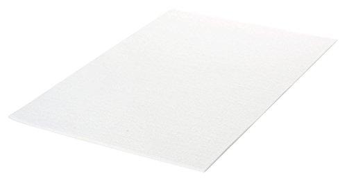 Filzplatte Weiss VBS 30×20 cm Stärke:1,5 mm Weiß