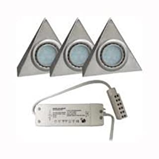 Pack Of 3 Triangle LED Under Cabinet Light Kit With Transformer - LED (B004P8RL6E) | Amazon price tracker / tracking, Amazon price history charts, Amazon price watches, Amazon price drop alerts