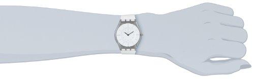 Swatch Damen-Armbanduhr XS White Classiness Analog Quarz Kautschuk SFK360 -