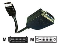Jou Jye Computer Display Port, DP 20pins / DVI-D 24 + 1pin, 0.2M 0.2m DisplayPort DVI-D Negro - adaptadores de cable de vídeo (DP 20pins / DVI-D 24 + 1pin, 0.2M, 0,2 m, DisplayPort, DVI-D, Negro, 70 g)