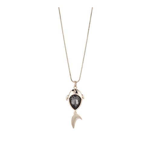 ZUXIANWANG Damen Halskette Lange Einfache Crystal Pullover Kette Dekorative Accessoires Fashion Hals Dekoration