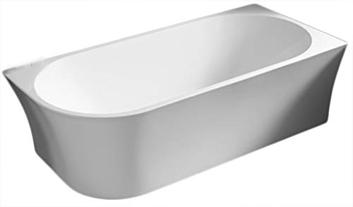 Freistehende Raumsparbadewanne NOVA CORNER Acryl weiß - Einbau rechts - 170 x 78 cm - Standarmatur wählbar, Standarmatur:Ohne Standarmatur, Siphon:Inkl. Siphon