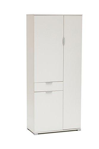 Memi me400lac armadio, legno, laccato bianco, 36.5x75x174 cm