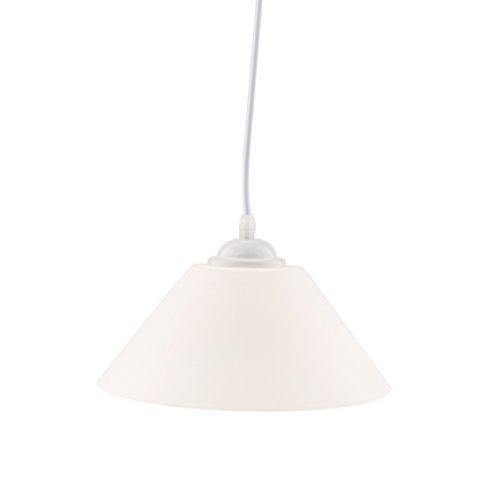 Pendelleuchte E27 Pendellampe Hängelampe Hängeleuchte für Wohnzimmer Esszimmer Bar Café - Weiß