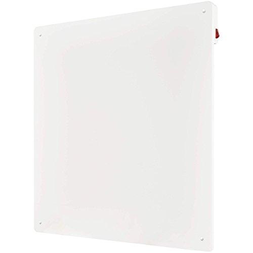 VILSTEIN Infrarotheizung Elektroheizung 425W, Heizpaneel Infrarotheizkörper Montage & Standfüße, 60x60 cm – Lackierbar
