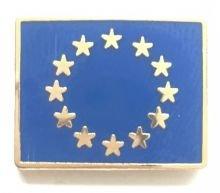 Europäische Union EU Blau Sterne Pin Badge (Echt Vergoldet)