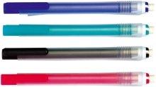 Radierminenhalter Radierstift für Bleistiftlinien auf Papier. Mit Druckmechanik und Kunststoffclip. Radiermine mit hervorragender Radierqualität ohne Krümelbildung, PVC-frei. Farbig sortiert.