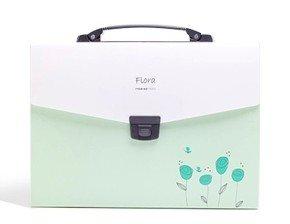 Shuter-Archiviatore a soffietto a 13Tasche A4file cartella con chiusura con fibbia, flessibile e comoda maniglia e oggetto Etichette. Green 2