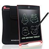 NEWYES LCD Tablette d'écriture Graphique Tablette 8,5 Pouces magnétiques Planche Tableau Frigo Bureau mémo Bloc-Notes LCD Notepad avec Housse (Rouge)