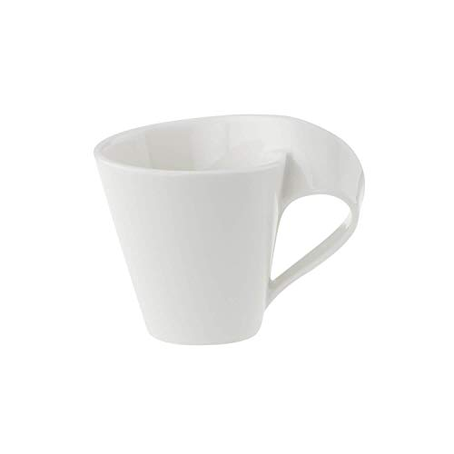 Villeroy & Boch NewWave Mokka-/Espressotasse, 80 ml, Premium Porzellan, Weiß