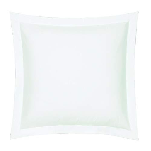 Blanc des Vosges C4O36B -03 - Funda para Almohada, 65 x 65 cm, Color Blanco