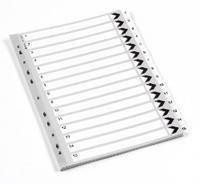 Preisvergleich Produktbild Nummeriert, Kunststoff, weiß, 15 Register A4 Ordner