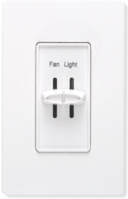 Fan und Light Slide Dimmer Schalter Slide Dimmer Licht