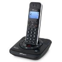 SPC Internet 7243DAM - Teléfono fijo inalámbrico (identificación de llamadas, agenda de 20 nombres, manos libres de alta calidad, pantalla iluminada azul, contestador digital)