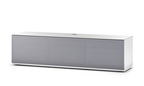 Sonorous STD 260T-WHT-GRY-BS Studio TV-Lowboard für 177,8 cm (70 Zoll) Fernseher weiß/grau