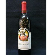 Signed Jagr, Jaromir 1996 Boston All-Star Game Wine Bottle. Stilled Sealed with wine in the bottle from 1994 Napa Valley autographed