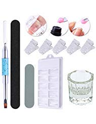 UR SUGAR Poly Quick Gel Tools Kit- Pen Brush, Buffer File,Finger Tip Clip, Nail Tips Form, Slip Solution Cup Poly UV Gel Werkzeug - Gel-acryl-kit