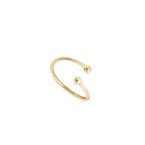 d Farbe Rund Perlen Ring für Frauen Schmuck Finger Ring für Party Geburtstag Geschenk (Rose Gold Ringe Kostüm)